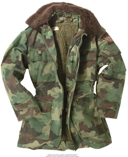 Serbian Camo Parka With Liner | Military Surplus  Used Clothing ...
