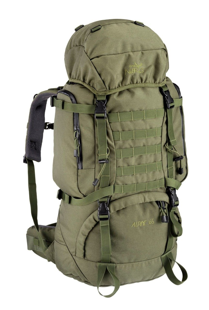backpack n e r g molle system cordura 1000d 65l olive. Black Bedroom Furniture Sets. Home Design Ideas