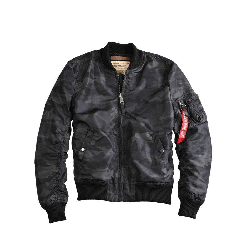 bomber flight jacket ma 1 tt alpha industries black. Black Bedroom Furniture Sets. Home Design Ideas