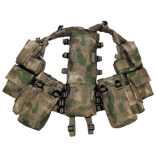 Tactical Vest, HDT camo green, with various pockets