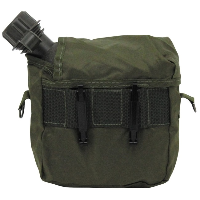 US bottle, 2 qt., angular, with cover, OD green