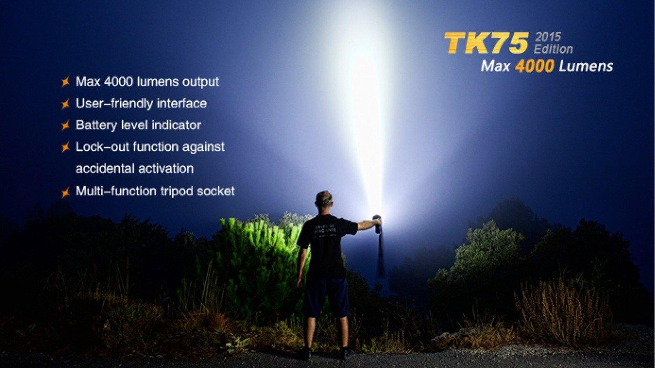 Lámpák, zseblámpa, Fenix TK75, vízálló