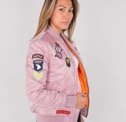 b97303a0ea Dzseki MA-1 VF Patch Wmn ezüst rózsaszín | Ruházat \ Alpha ...