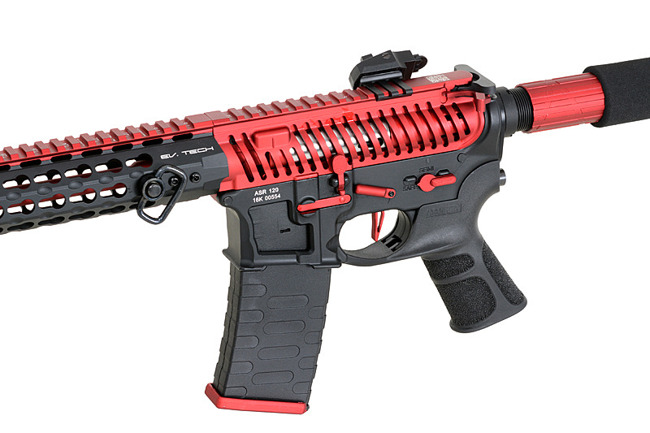 Replica riffle gun ASR120 Red Dragon EBB Full-Metal - Red/Black [APS]