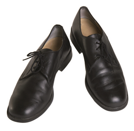 German Black Leather Dress Shoes Used ... 6278dae22