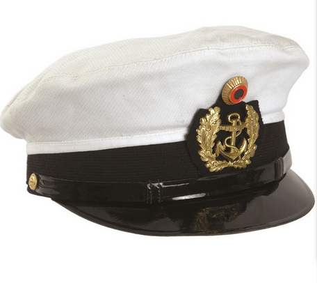 6224c1d2aa7 German White Navy Visor Hat Used ...