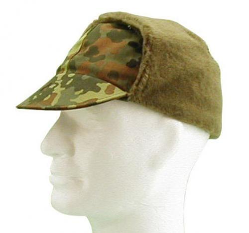 541fc1d22c49d0 GERMAN ARMY FLECKTARN CAMO WINTER CAP USED | Military Surplus \ Used  Clothing \ Headwear \ Winter Caps militarysurplus.eu