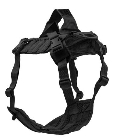 Edo K9 Tactical Dog Harness Vest Black