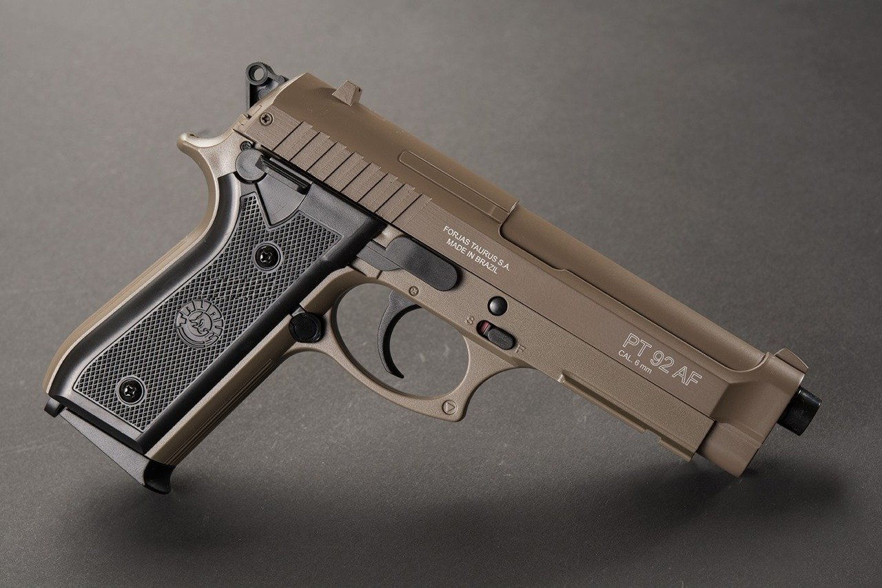 taurus pt92  CYBG Taurus PT92 TAN metal slide   Airsoft \ Spring Guns \ Spring ...