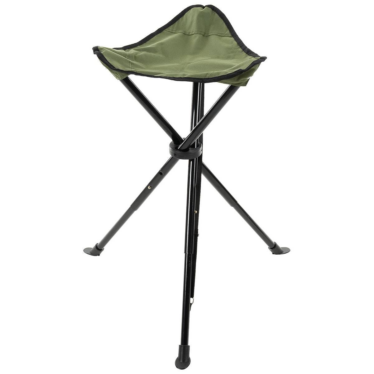 Folding Chair 3 Leg Telescope Od Green Trekking