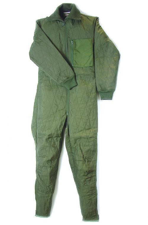 9122424d9e0 GERMAN ARMY O.D. QUILT LINER FOR TANKER COVERALL USED