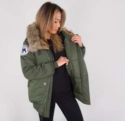 6838a89d Women Industries Svl Apparel Polar Jacket Wmn Green Dark Alpha pF8qZ6