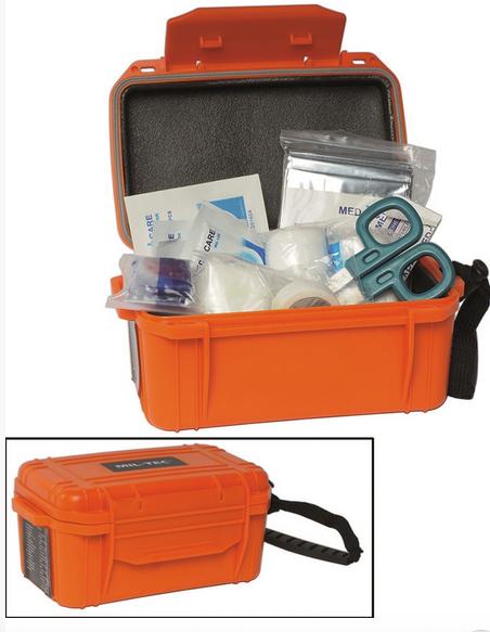Orange First Aid Kit Camping Waterpr