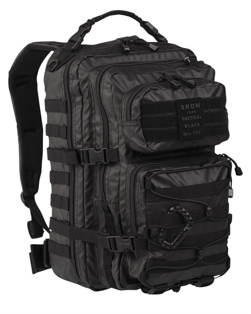 TACTICAL BLACK BACKPACK US ASSAULT 36 l .. super popular a5756 7b51b Mil-Tec  Military Army Patrol Molle ... 12d5782aa1