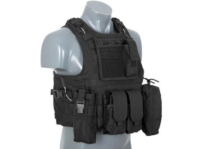 Vest Fsbe Airsoft Black Tactical Aav 6fbyY7g