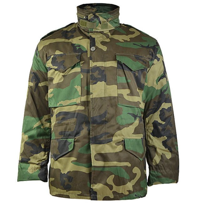 75c0a7a51 US STYLE Woodland M65 FIELD JACKET WITH LINER