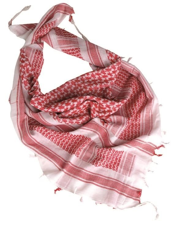 WHITE/RED SHEMAGH SCARF White/Red | Apparel \ Scarves \ Shemaghs ...