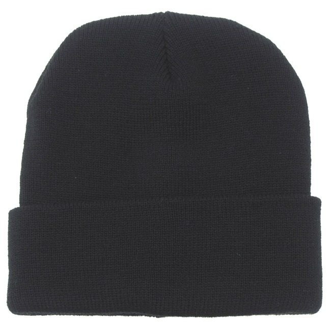 Watch Cap, wool, Black