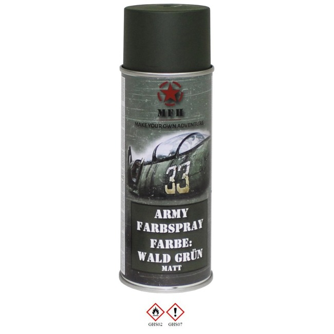 Army Spray Paint, FOREST GREEN, mat, 400 ml