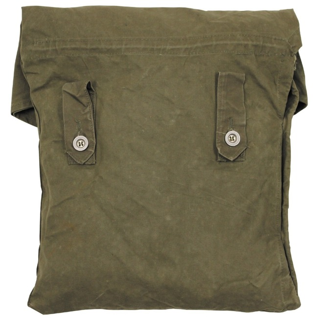 "BW bag, for tent tarpaulin, OD green, used, ""DEFECTIVE"""