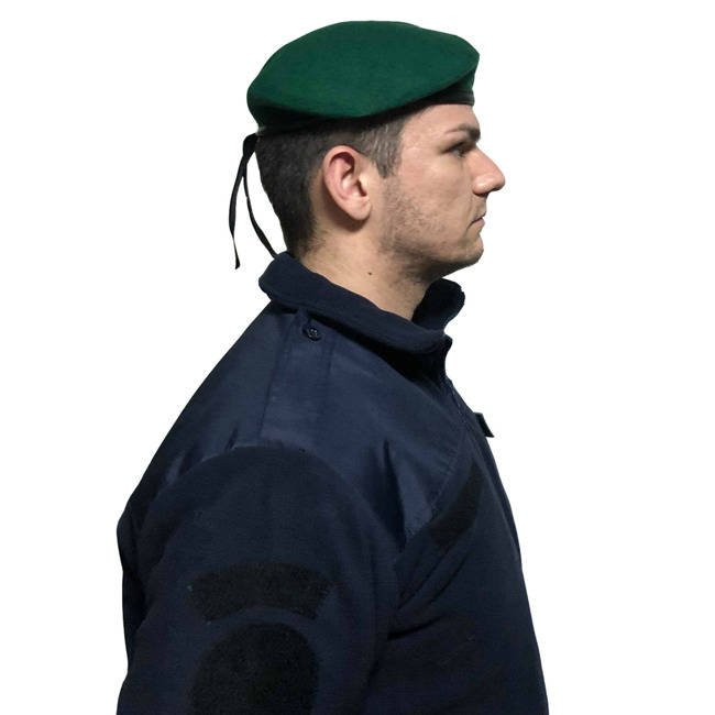 Beret with velcro Insignia - Green - textile