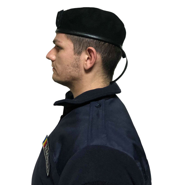 Beret with velcro Insignia - black