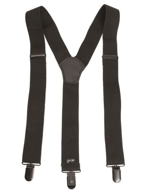 Black SUSPENDERS WITH CLIP
