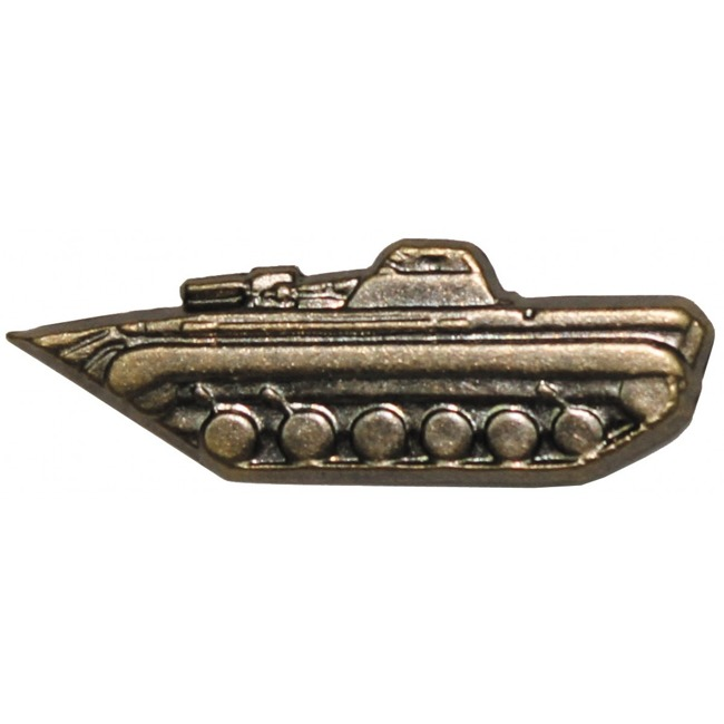 CZ/SK metal badge, bronze, tank, like new