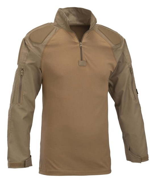 Defcon 5 Combat Shirt With Protections Full Sleeves -  Coyote