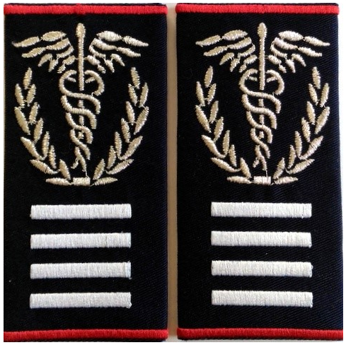 Embroidered chief medic intervention Grade II SMURD Badge (custom message)
