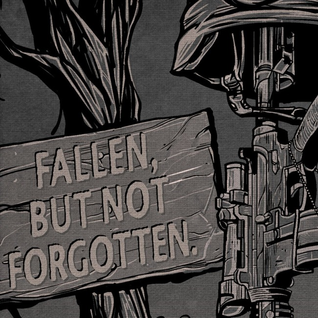 "'Fallen, But Not Forgotten' 7.62 Design 20"" X 24"" Canvas Print"