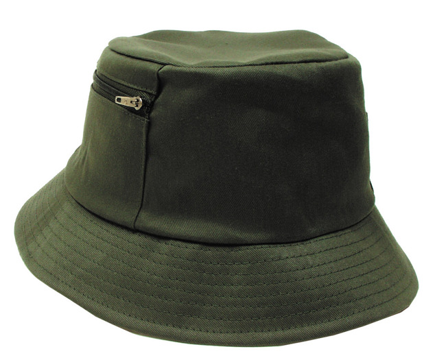 Fisher Hat, OD green, small side pocket