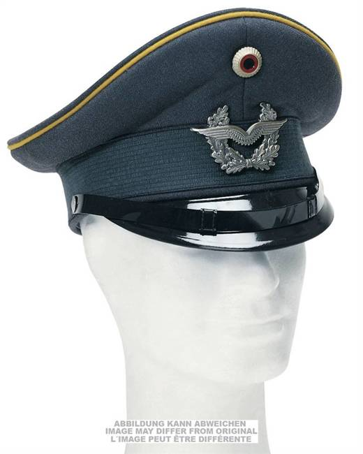 GERMAN VISOR HAT - WITH INSIGNIA - USED
