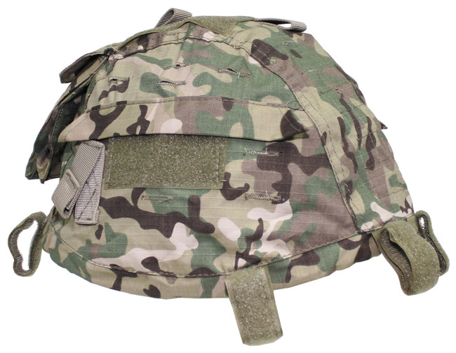 Helmet Cover with pockets, resizable, operation-camo MultiCam