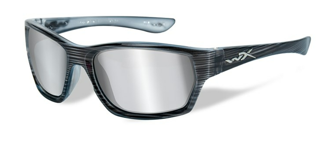 MOXY GREY SILVER FLASH LENS/BLACK STREAK FRAME