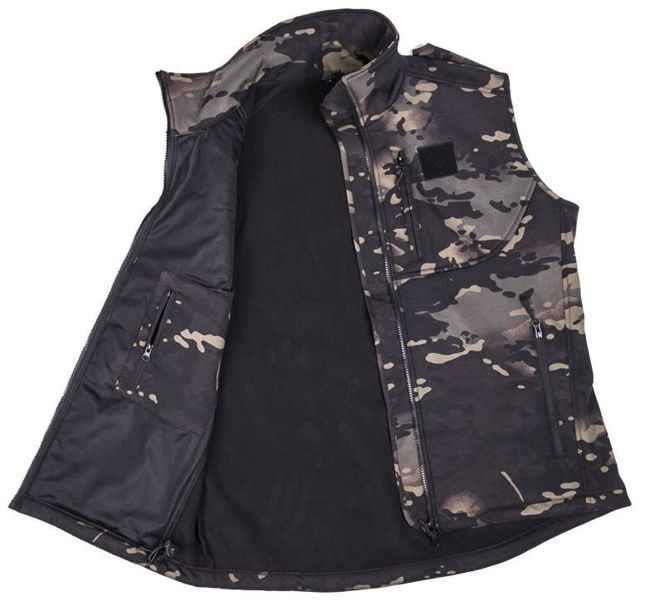 Multicam Black SOFTSHELL VEST