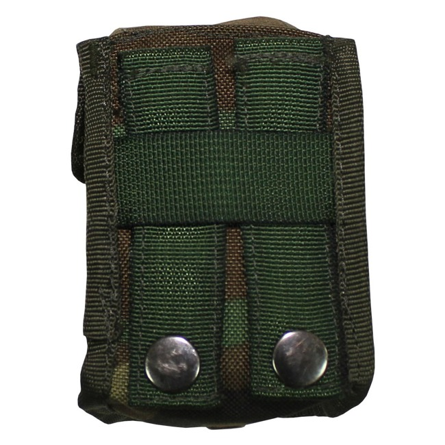 "NL grenades pouch, ""Molle"", camo, used 10 x 8 x 6 cm"