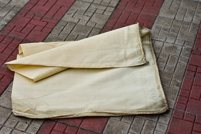 Non-personalized malimo sack - Romanian Army Surplus