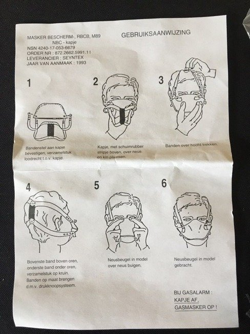 Protective Face Mask M85 NBC 1993 Seyntex Original New - Dutch Army surplus