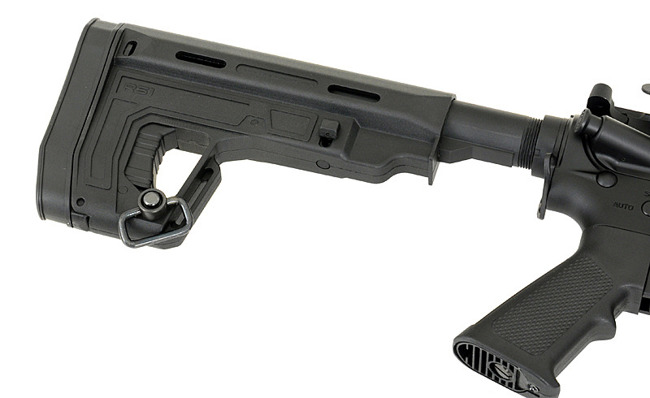 Replica riffle gun ASR115R SPYDER EBB Full-Metal - Black [APS]