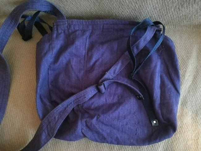 Romanian Military bread bag - Security, post-WWII, Romanian Army Surplus blue - Used