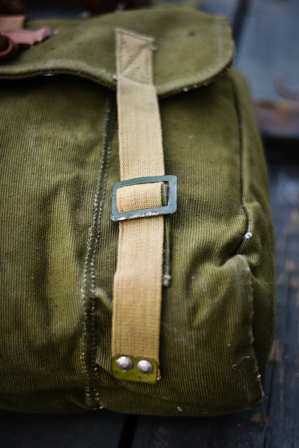 Romanian Military bread bag, post-WWII, Romanian Army Surplus - Used