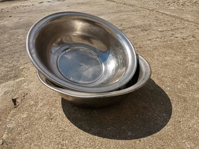 Stainless steel bowl Romanian surplus