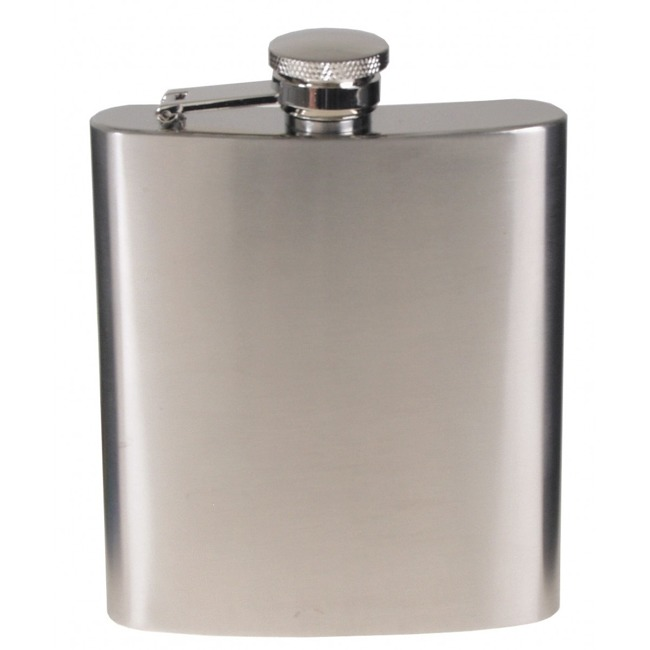 Steel Flask, stainless steel, chrome matte, 225 ml
