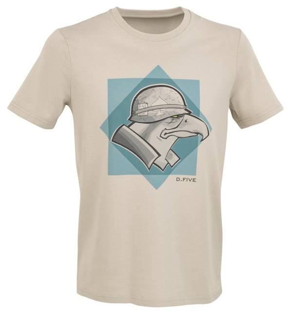 T-SHIRT WITH FRONT CHEST HELMET EAGLE - D.FIVE