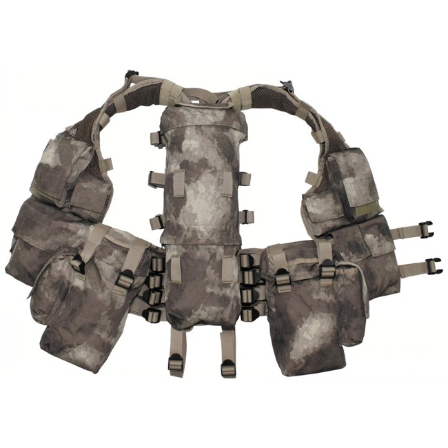 Tactical Vest, HDT camo, with various pockets