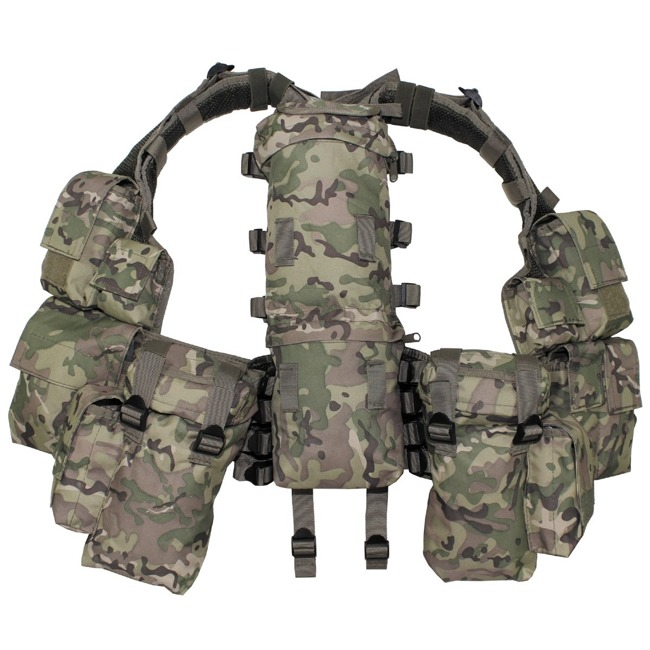 Tactical Vest, operation camo, with various pockets