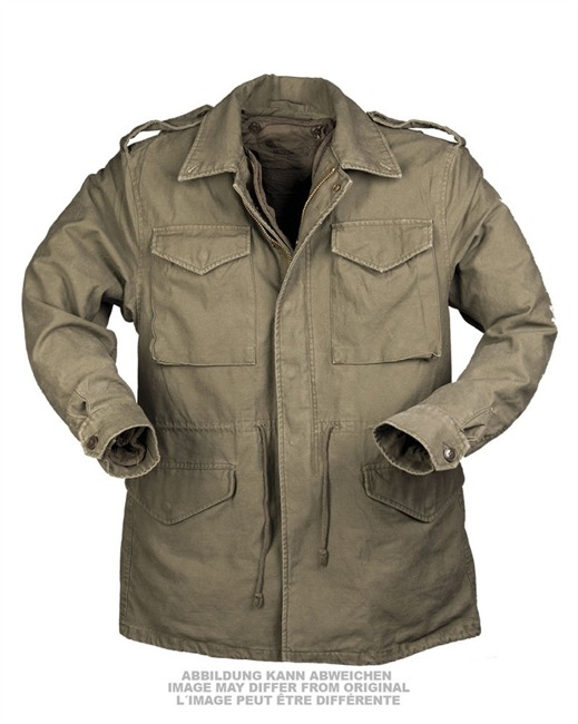 US OD M51 FIELD JACKET PREWASH WITH LINER LIKE NEW