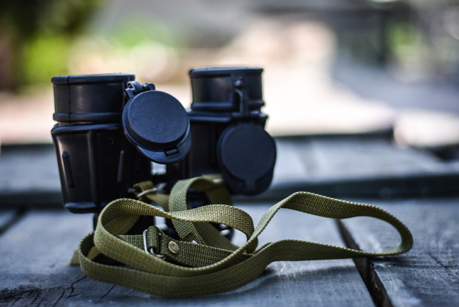 VALDADA IOR B / GA 7x40 military binoculars (infrared filter), Romanian Army Surplus
