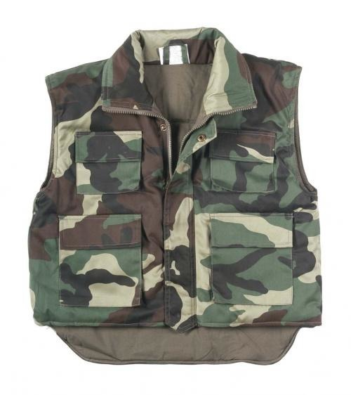 VEST KIDS US WOODLAND CAMO